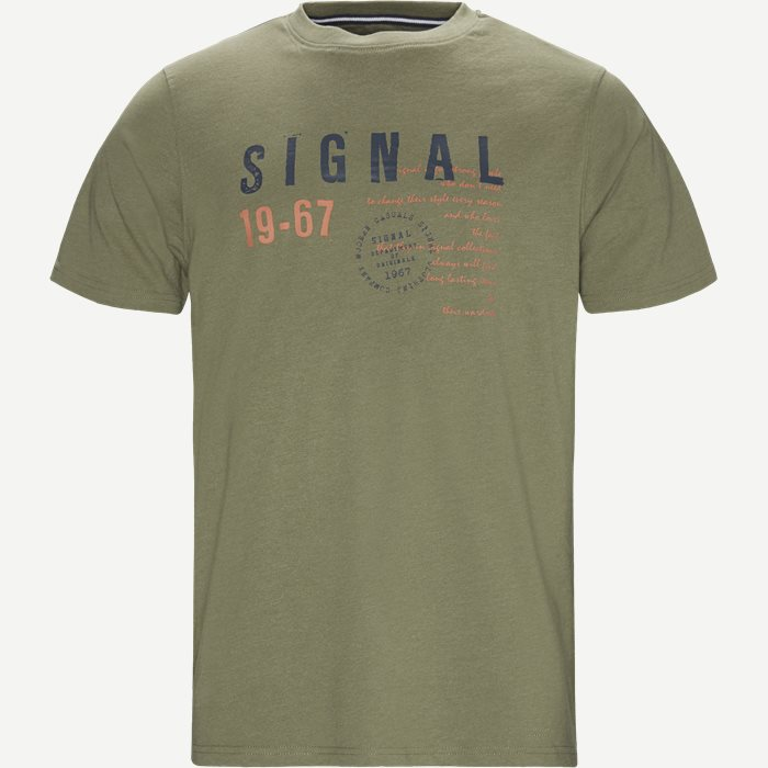 Wayne Tee KM  - T-shirts - Regular - Army